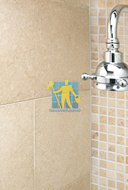 limestone tile shower thala cream Canberra cleaning