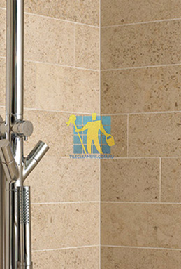 limestone tiles shower moleanos beige Canberra cleaning