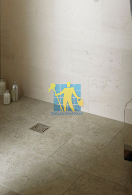 limestone tiles shower moleanos blue Canberra cleaning