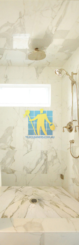 marble tiles shower wall floor calcutta polished luxury bathroom Woden Valley