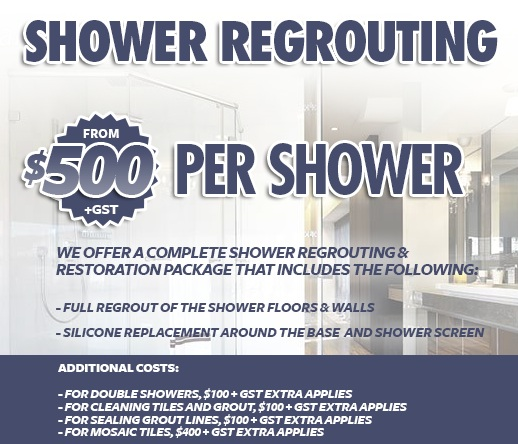 Canberra Tile Solutions Shower Regrouting