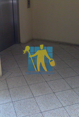 terrazzo tiles dirty floor entrance lift Canberra